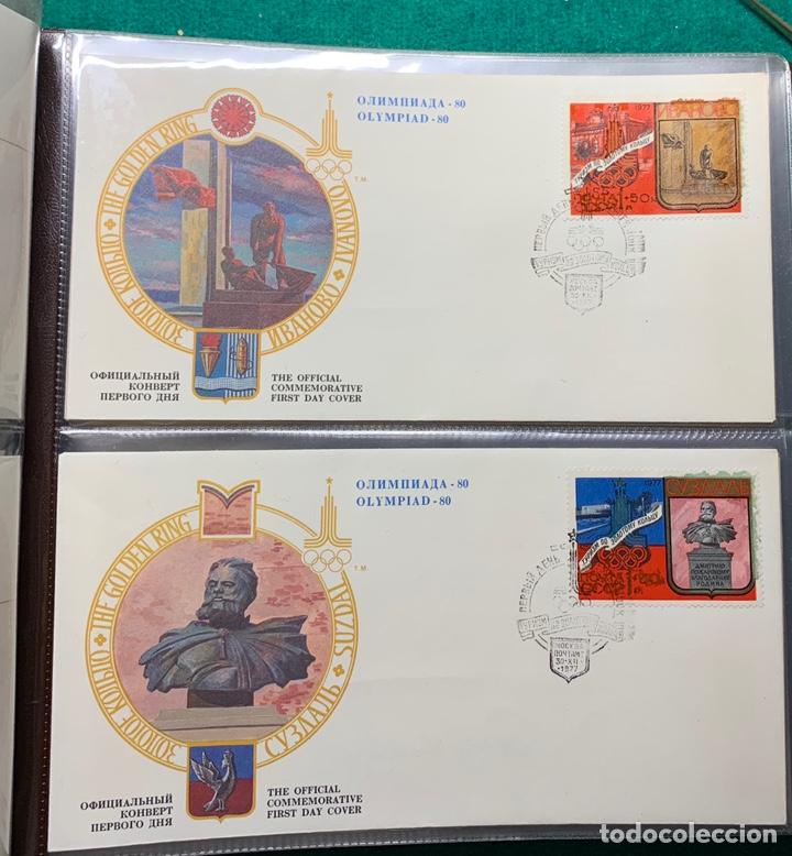 Sellos: COLECCIÓN 38 SOBRES PRIMER DÍA OLIMPIADAS MOSCÚ 1980 EN ALBÚM PARA LA EDICIÓN - Foto 6 - 167632050