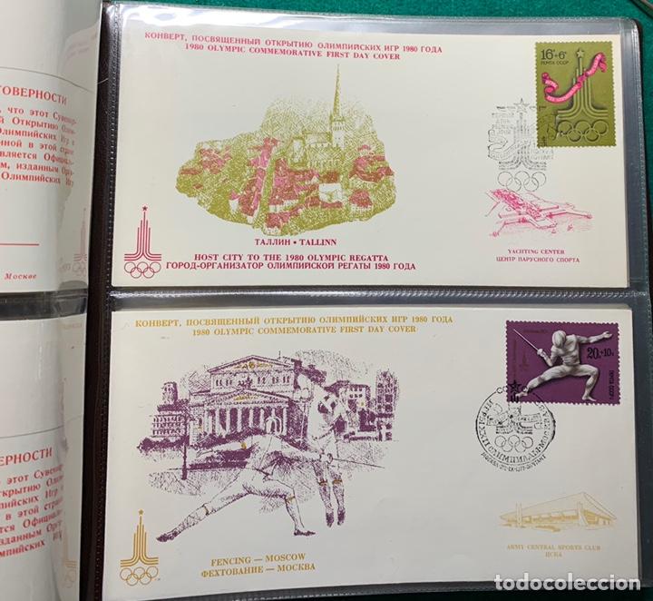 Sellos: COLECCIÓN 38 SOBRES PRIMER DÍA OLIMPIADAS MOSCÚ 1980 EN ALBÚM PARA LA EDICIÓN - Foto 7 - 167632050