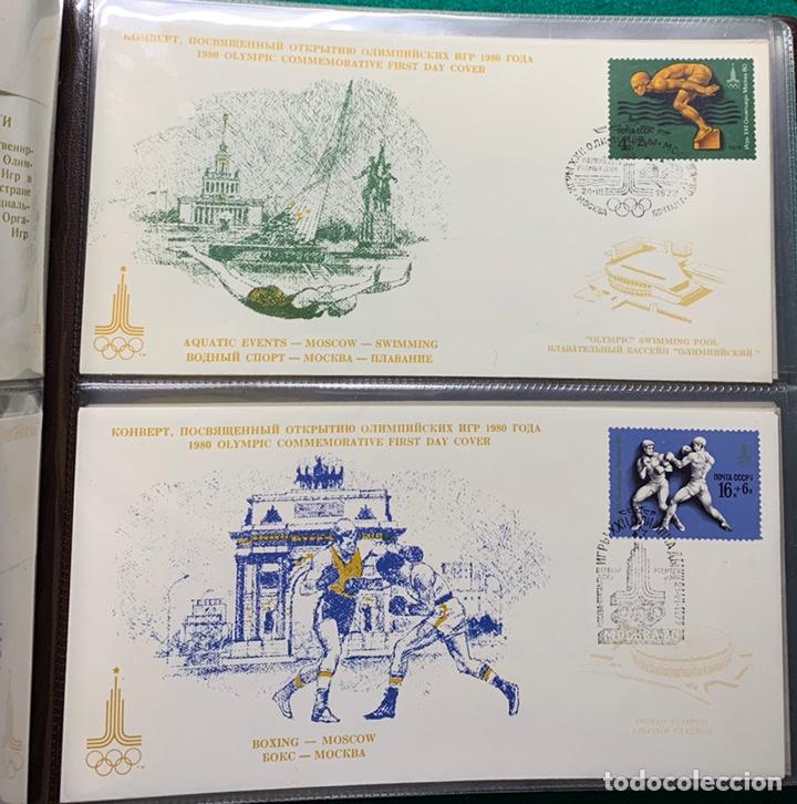 Sellos: COLECCIÓN 38 SOBRES PRIMER DÍA OLIMPIADAS MOSCÚ 1980 EN ALBÚM PARA LA EDICIÓN - Foto 8 - 167632050