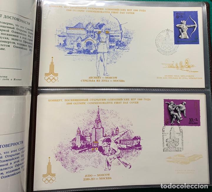 Sellos: COLECCIÓN 38 SOBRES PRIMER DÍA OLIMPIADAS MOSCÚ 1980 EN ALBÚM PARA LA EDICIÓN - Foto 9 - 167632050