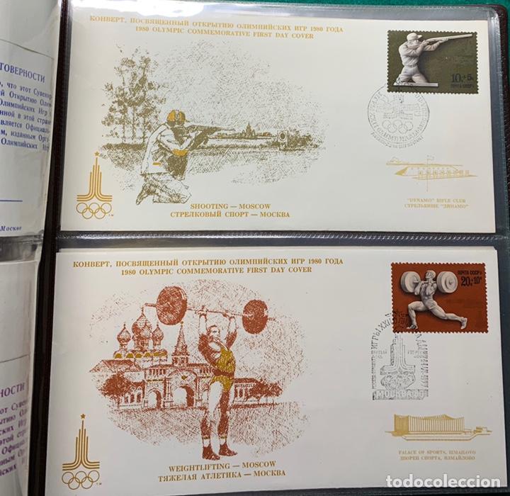 Sellos: COLECCIÓN 38 SOBRES PRIMER DÍA OLIMPIADAS MOSCÚ 1980 EN ALBÚM PARA LA EDICIÓN - Foto 10 - 167632050