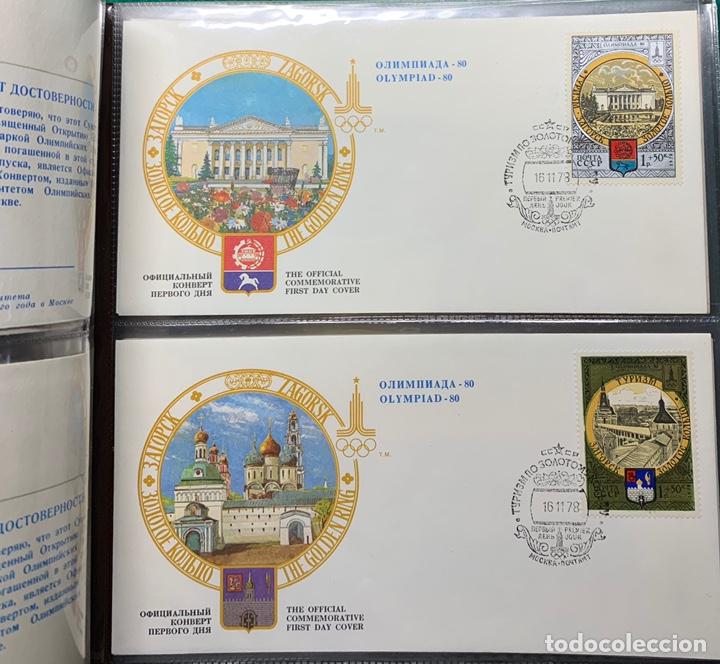 Sellos: COLECCIÓN 38 SOBRES PRIMER DÍA OLIMPIADAS MOSCÚ 1980 EN ALBÚM PARA LA EDICIÓN - Foto 12 - 167632050