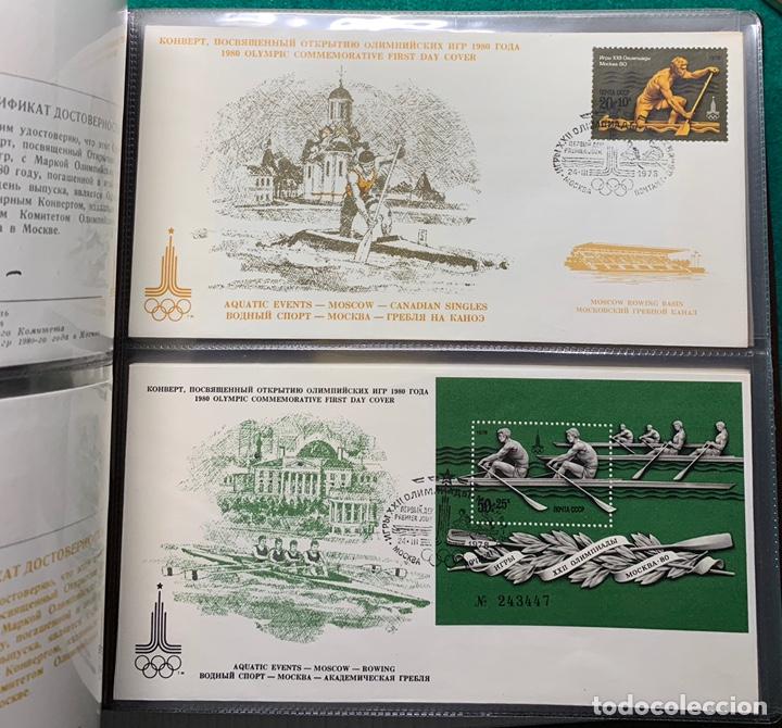 Sellos: COLECCIÓN 38 SOBRES PRIMER DÍA OLIMPIADAS MOSCÚ 1980 EN ALBÚM PARA LA EDICIÓN - Foto 13 - 167632050