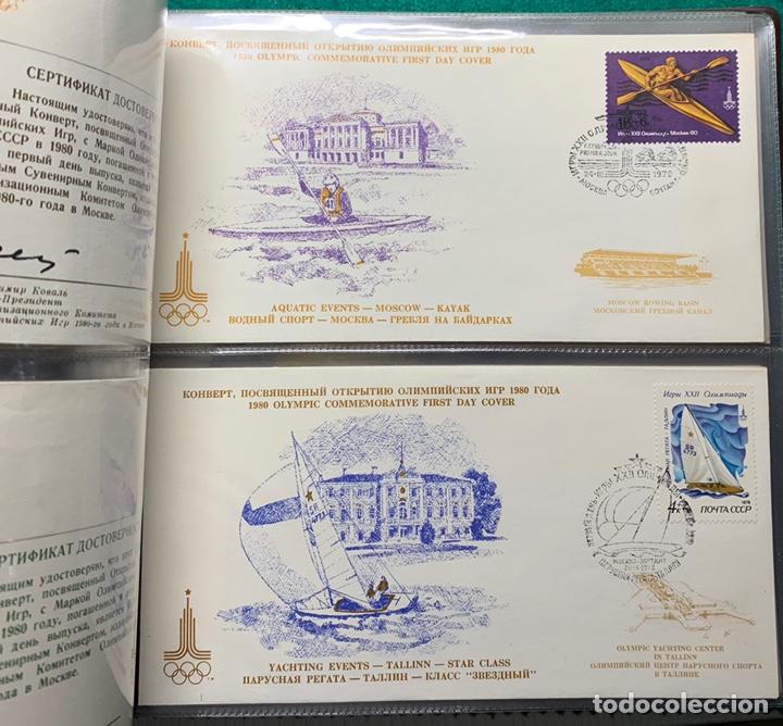 Sellos: COLECCIÓN 38 SOBRES PRIMER DÍA OLIMPIADAS MOSCÚ 1980 EN ALBÚM PARA LA EDICIÓN - Foto 14 - 167632050