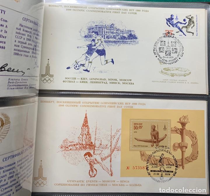 Sellos: COLECCIÓN 38 SOBRES PRIMER DÍA OLIMPIADAS MOSCÚ 1980 EN ALBÚM PARA LA EDICIÓN - Foto 15 - 167632050