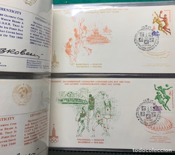Sellos: COLECCIÓN 38 SOBRES PRIMER DÍA OLIMPIADAS MOSCÚ 1980 EN ALBÚM PARA LA EDICIÓN - Foto 16 - 167632050