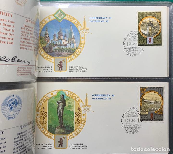 Sellos: COLECCIÓN 38 SOBRES PRIMER DÍA OLIMPIADAS MOSCÚ 1980 EN ALBÚM PARA LA EDICIÓN - Foto 18 - 167632050