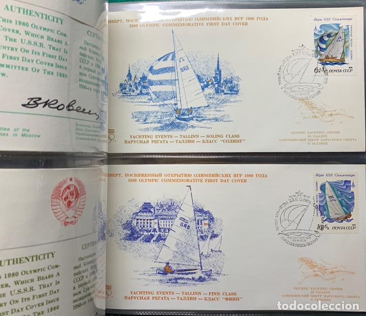 Sellos: COLECCIÓN 38 SOBRES PRIMER DÍA OLIMPIADAS MOSCÚ 1980 EN ALBÚM PARA LA EDICIÓN - Foto 20 - 167632050