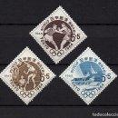 Sellos: JAPON 746/48** - AÑO 1963 - JUEGOS OLIMPICOS DE TOKIO - VELA - BOXEO - VOLEIBOL. Lote 168077176