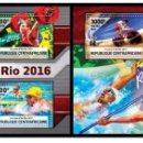 Sellos: CENTRAL AFRICA 2016 - RIO 2016 SUMMER GAMES OFFICIAL ISSUE STAMP SET MNH. Lote 169362524