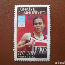 Timbres: TURQUIA, 2004* SELLO USADO, TEMA OLIMPISMO . Lote 170342832