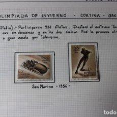 Sellos: SELLOS SAN MARINO-VII OLIMPIADA DE INVIERNO CORTINA 1956. Lote 173260487