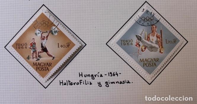 LOTE 10 SELLOS OLIMPIADAS DE TOKIO 1964 (Sellos - Temáticas - Olimpiadas)