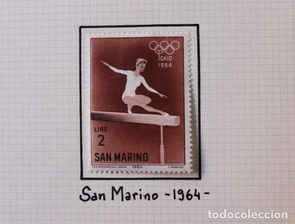 Sellos: Lote 10 sellos olimpiadas de Tokio 1964 - Foto 2 - 194259392