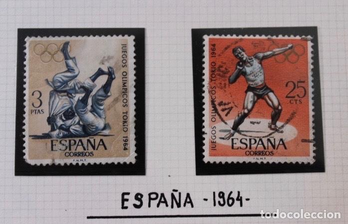 Sellos: Lote 10 sellos olimpiadas de Tokio 1964 - Foto 3 - 194259392