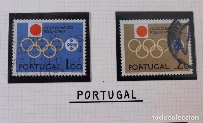 Sellos: Lote 10 sellos olimpiadas de Tokio 1964 - Foto 4 - 194259392