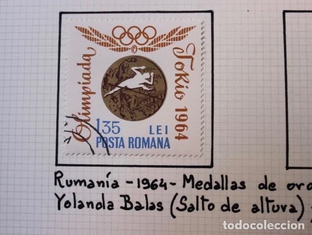 Sellos: Lote 10 sellos olimpiadas de Tokio 1964 - Foto 6 - 194259392