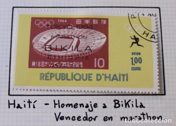 Sellos: Lote 10 sellos olimpiadas de Tokio 1964 - Foto 7 - 194259392