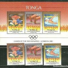 Sellos: TONGA 2012 SC 1185/87 Y HB *** JUEGOS OLIMPICOS DE LONDRES - DEPORTES. Lote 173799934