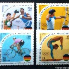Sellos: MADAGASCAR OLIMPIADAS DE BARCELONA 1992 SERIE DE SELLOS NUEVOS. Lote 174569888