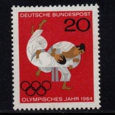 Sellos: ALEMANIA 319** - AÑO 1964 - JUEGOS OLIMPICOS DE TOKIO - JUDO. Lote 176187952
