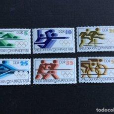 Sellos: ALEMANIA DDR Nº YVERT 2796/1*** AÑO 1988. JUEGOS OLIMPICOS DE SEUL. Lote 193186908