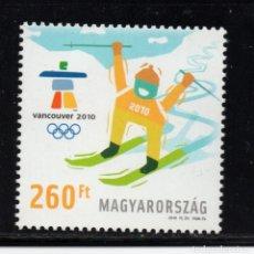 Sellos: HUNGRIA 4395** - AÑO 2010 - JUEGOS OLIMPICOS DE INVIERNO DE VANCOUBER. Lote 178584015