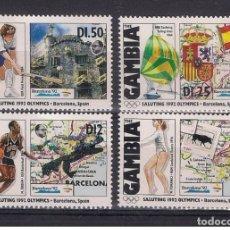Timbres: GAMBIA 1992 - OLYMPICS BARCELONA 92 - YVERT Nº 1129-1132 - MICHEL 1319 +- SCOTT 1197+. Lote 178717843