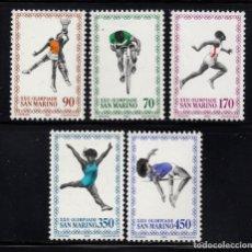 Sellos: SAN MARINO 1013/17** - AÑO 1980 - JUEGOS OLÍMPICOS DE MOSCÚ. Lote 178880706