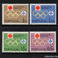 Sellos: PORTUGAL 949/52** - AÑO 1964 - JUEGOS OLÍMPICOS DE TOKIO. Lote 268170904