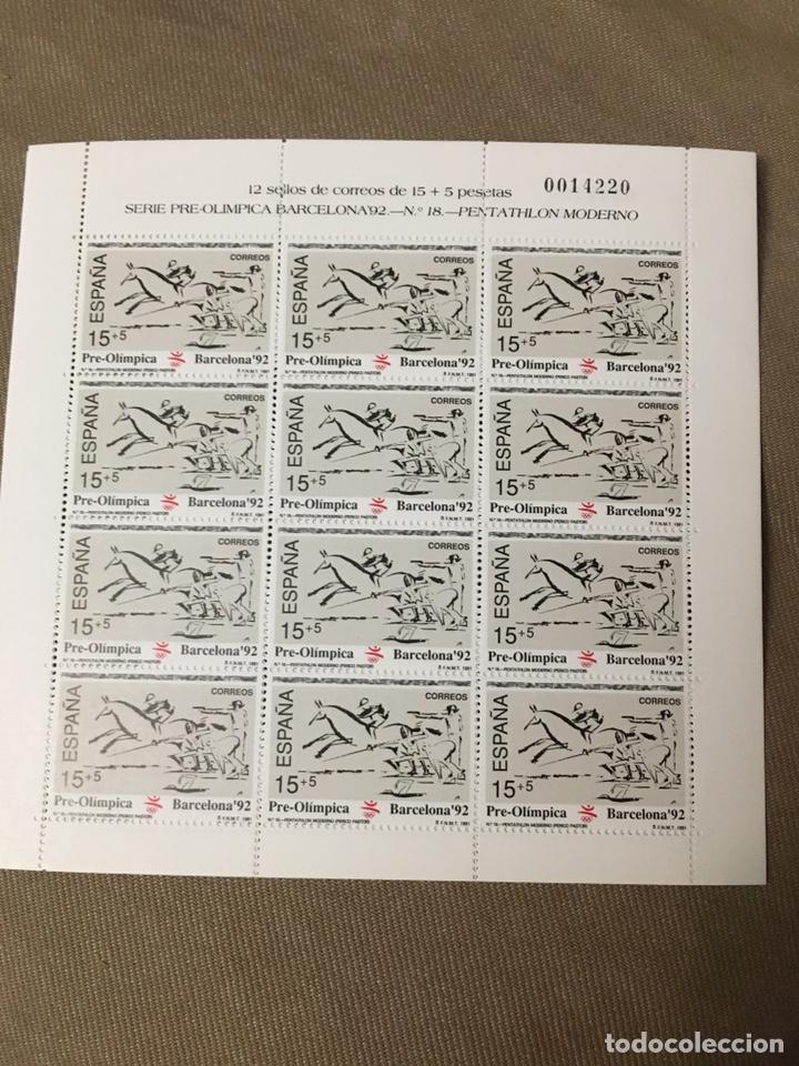 Sellos: 4 hojas bloque de 12 sellos deportes Pentatlón Moderno ,REMO,TIRO CON ARCO,PIRAGUISMO - Foto 3 - 180428021