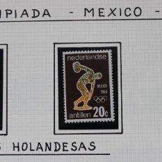 Sellos: OLIMPIADA DE MEXICO SERIE COMPLETA CONMEMORATIVA ANTILLAS HOLANDESAS 1968. 3 SELLOS NUEVOS. Lote 180600862