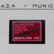 Sellos: OLIMPIADA DE MUNICH. SERIE CONMEMORATIVA PAISES BAJOS 1972. Lote 180601828