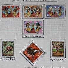 Sellos: LOTE 36 SELLOS VARIOS PAÍSES OLIMPIADAS DE MUNICH ALEMANIA 1972. Lote 180602366