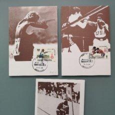 Sellos: 3 ENTEROS ANDORRA PRIMER DIA CIRCULACION 1980 JUEGOS OLIMPICOS MOSCU TIRO BOXEO ESQUÍ PERFECTA CONSE. Lote 181569390