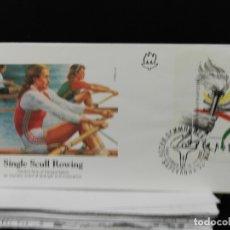 Sellos: BULGARIA FDC HB 174. OLIMPIADA DE BARCELONA. RELEVO DE LA ANTORCHA.. Lote 194700397