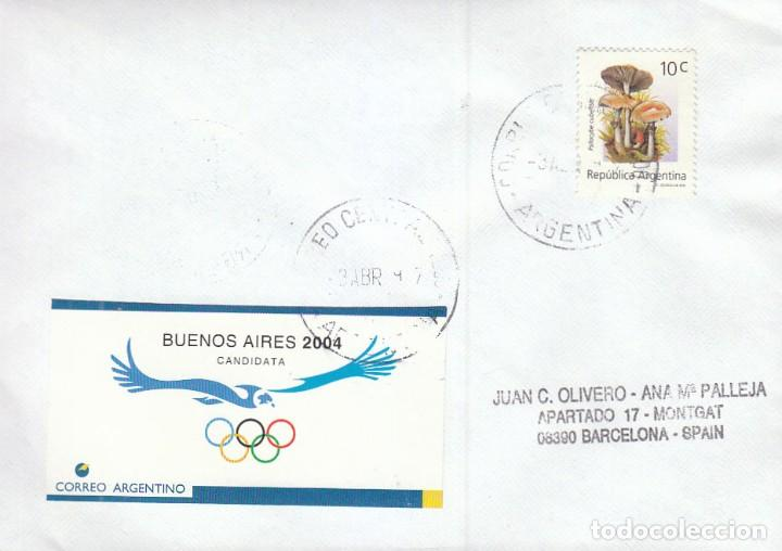 ARGENTINA CANDIDATA A LOS JUEGOS OLIMPICOS DE 2004,. MATASELLO DE 3-4-1997 (Sellos - Temáticas - Olimpiadas)