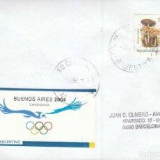 Sellos: ARGENTINA CANDIDATA A LOS JUEGOS OLIMPICOS DE 2004,. MATASELLO DE 3-4-1997. Lote 194290078