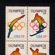 Sellos: ESTADOS UNIDOS 1140/43** - AÑO 1976 - JUEGOS OLIMPICOS DE MONTREAL E INSBRUCK. Lote 185904300