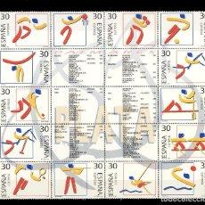 Sellos: ESPAÑA. DEPORTES OLIMPICOS DE PLATA. Lote 187313190
