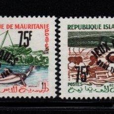 Sellos: MAURITANIA 154A/54B** - AÑO 1962 - JUEGOS OLIMPICOS DE TOKIO. Lote 187620966