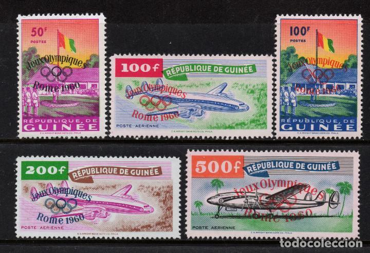GUINEA 39/40 Y AEREO 11/13** - AÑO 1960 - JUEGOS OLIMPICOS DE ROMA - AVIONES (Sellos - Temáticas - Olimpiadas)