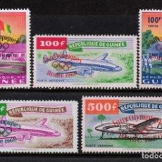 Sellos: GUINEA 39/40 Y AEREO 11/13** - AÑO 1960 - JUEGOS OLIMPICOS DE ROMA - AVIONES. Lote 189774243