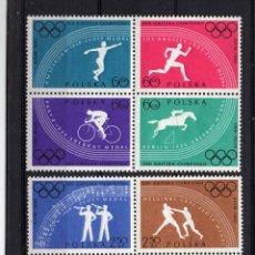 Timbres: POLONIA 1031/38** - AÑO 1960 - JUEGOS OLIMPICOS DE ROMA. Lote 189885720