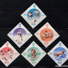 Sellos: LIBANO 176/78 Y AEREO 207/09** - AÑO 1961 - JUEGOS OLÍMPICOS DE ROMA. Lote 191708781
