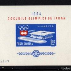 Sellos: RUMANIA HB 56** - AÑO 1964 - JUEGOS OLIMPICOS DE INVIERNO, INNSBRUCK. Lote 191910022