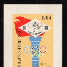 Sellos: RUMANIA HB 58 - AÑO 1964 - JUEGOS OLÍMPICOS DE TOKIO. Lote 191910337