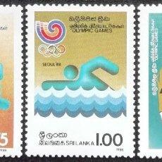 Timbres: 1988. DEPORTES. SRI LANKA. 841 / 844. JUEGOS OLÍMPICOS DE SEÚL. NUEVO.. Lote 193570573