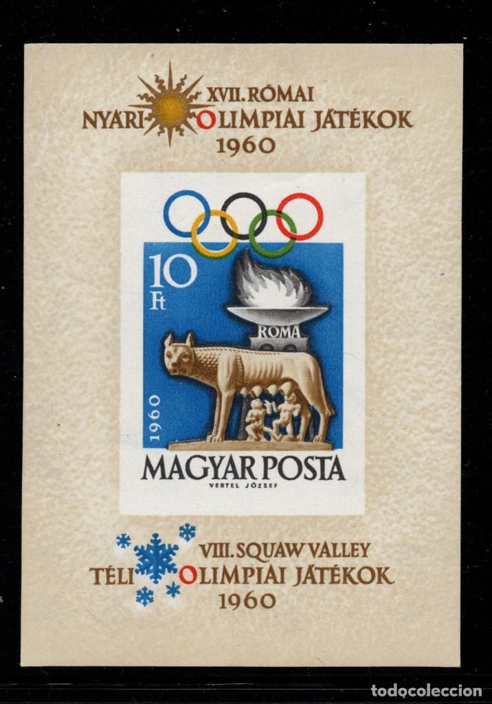 HUNGRIA HB 36** SIN DENTAR - AÑO 1960 - JUEGOS OLIMPICOS DE ROMA (Sellos - Temáticas - Olimpiadas)