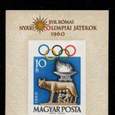 Sellos: HUNGRIA HB 36** SIN DENTAR - AÑO 1960 - JUEGOS OLIMPICOS DE ROMA. Lote 193628130